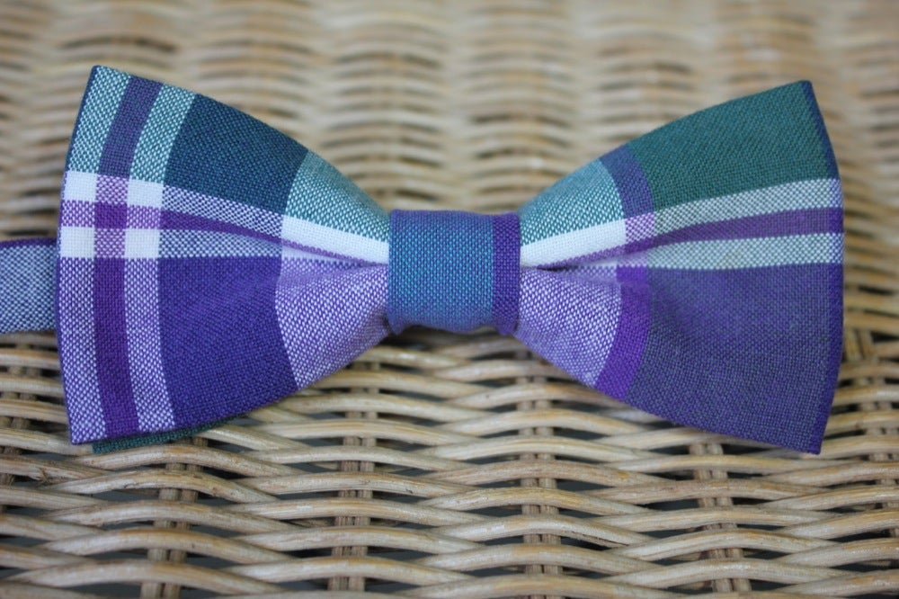 Image of Roulette (Purple, Teal, Green) -Bow Tie