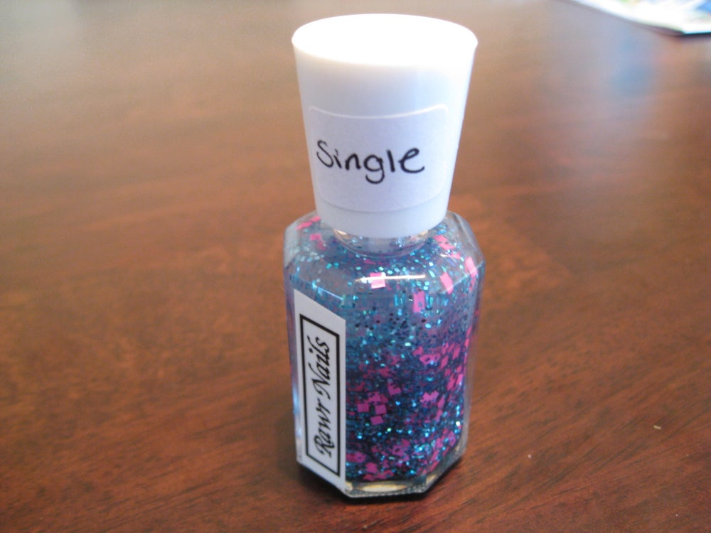 Image of Rawr Nails: Single - Pink Blue - Glitter Nail Polish Custom