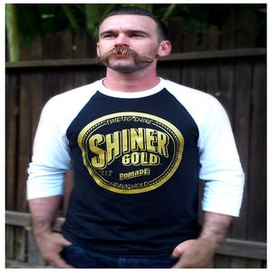 Image of SHINER GOLD MEN'S BASEBALL TEE  Medium SOLD OUT 12-15-14