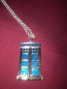 Image of Dr Who Tardis/Police Box Necklace