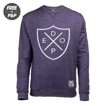 Image of DOPE SHIELD - CREWNECK SWEATSHIRT - PURPLE
