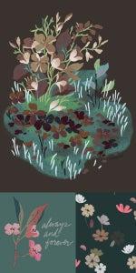 Image of Custom Floral Illustration