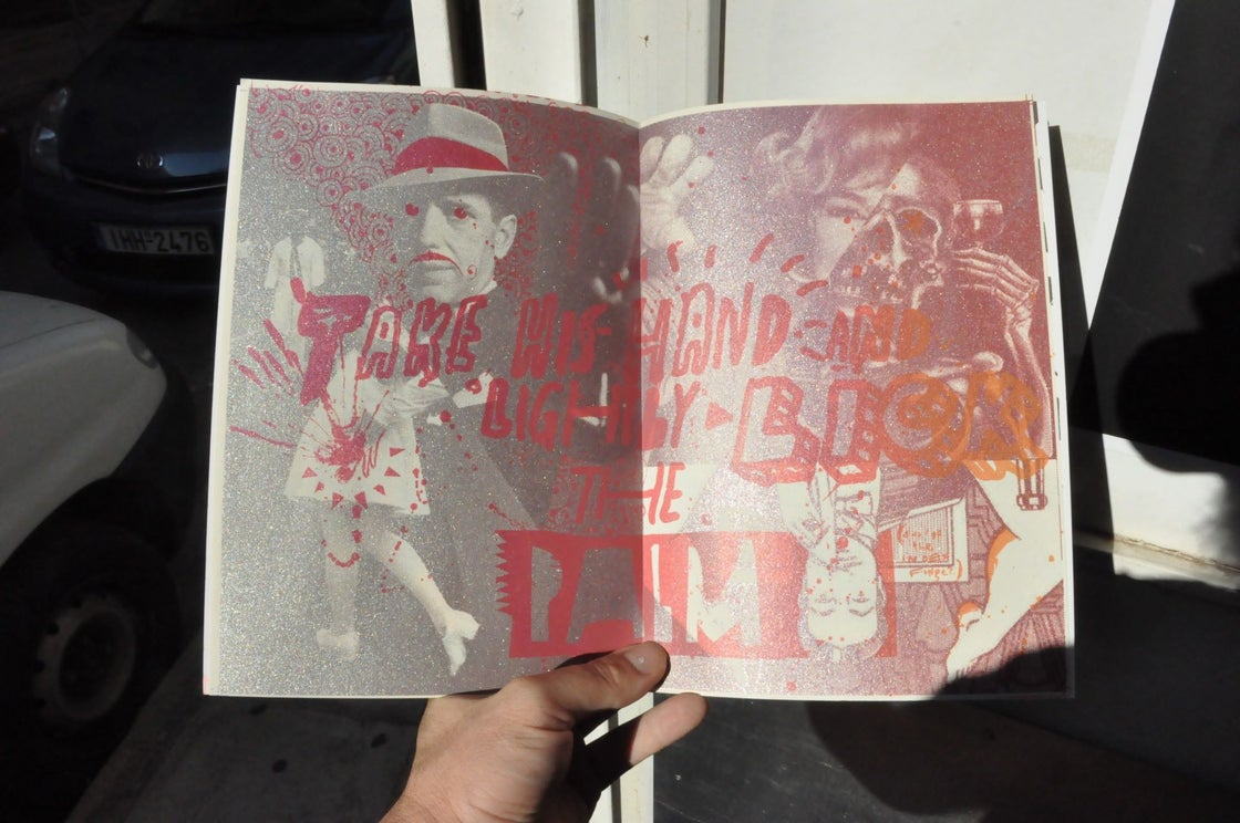 "Image of ""Manual"" silkscreened zine"