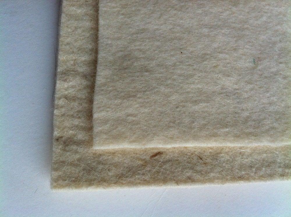 Image of Wool felt backing samples