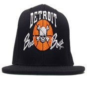 Image of Detroit Bad Boys Retro Detroit Pistons Black Snapback Cap (Yupoong)