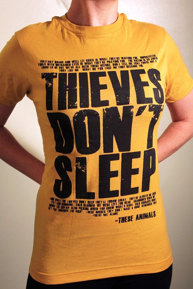 "Image of ""Thieves Don't Sleep"" - Lyric Tee"
