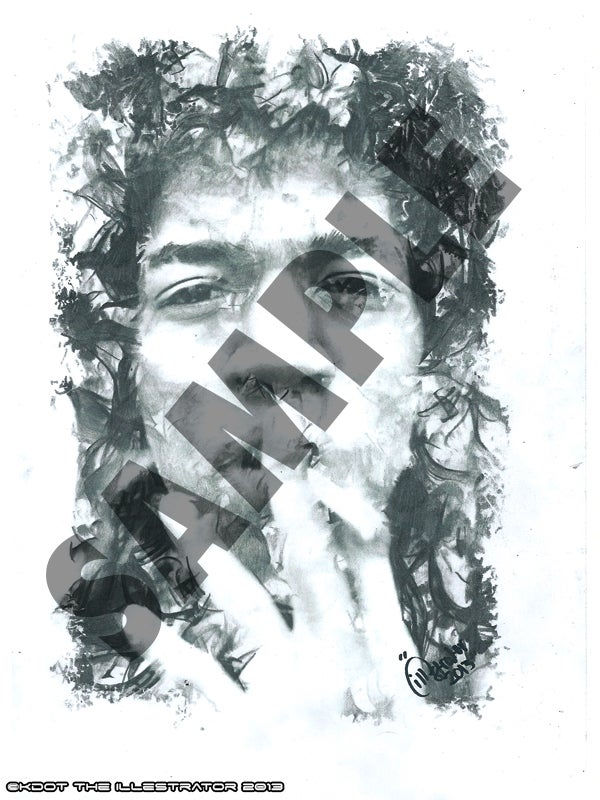 Image of Jimi Hendrix Print by The Illestrator