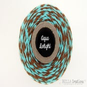 Image of Aqua Delight - Aqua and Brown Bakers Twine by Timeless Twine™