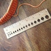 Image of Wooden gauge ruler