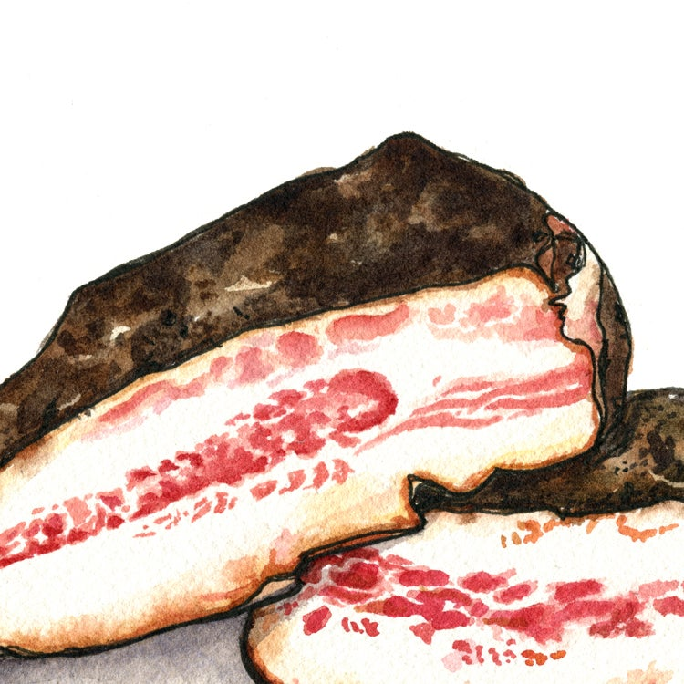 Image of Guanciale Me Maybe  Meat Print