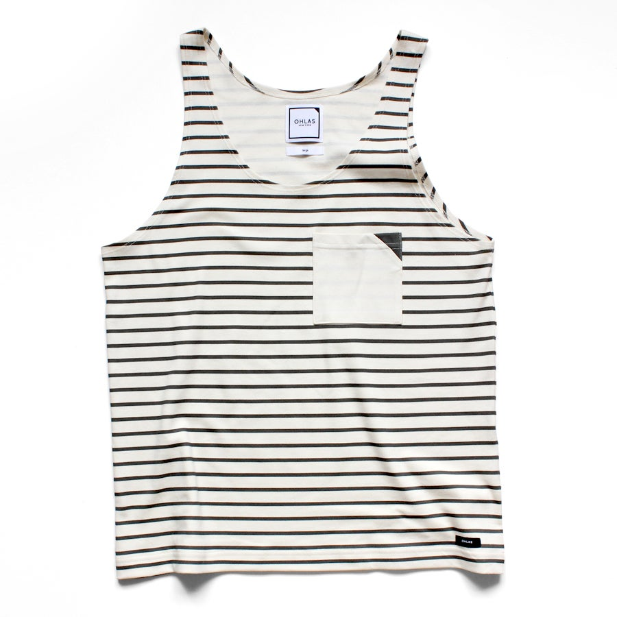Image of POCKET SQUARE & STRIPES TANK
