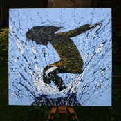 "Image of ""SplashBack"" Canvas Edition - Blue"