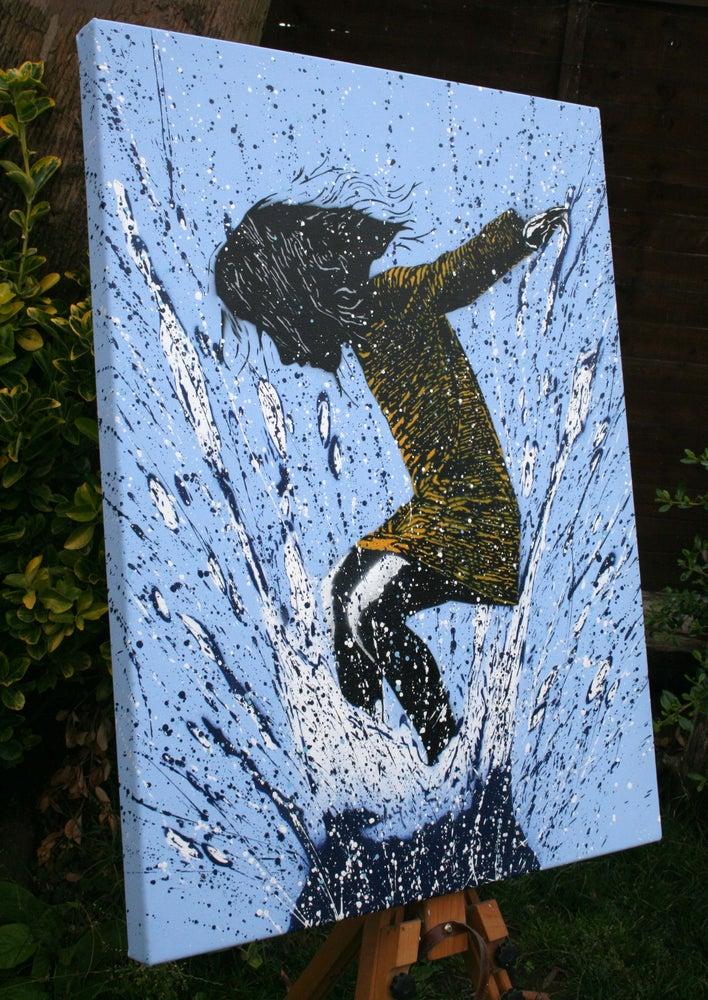 """Image of """"SplashBack"""" Canvas Edition - Blue"""