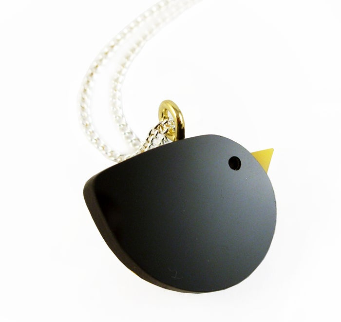 Image of Blackbird pendant necklace