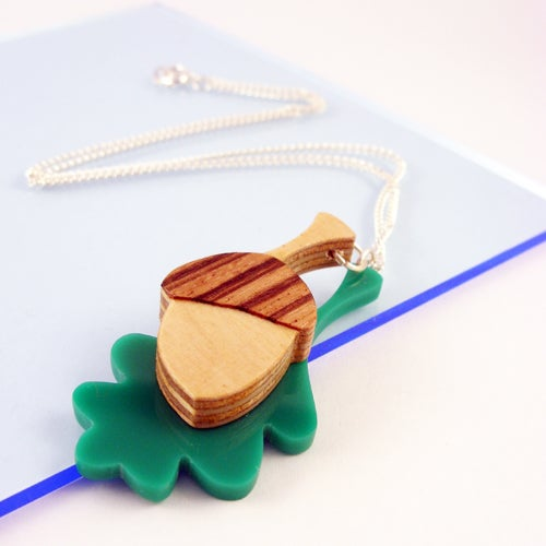 Image of Acorn & Oak Leaf necklace