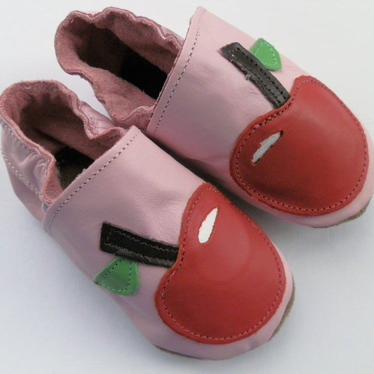 Image of Pink Apple Baby Shoes