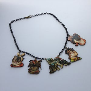 Image of Crazy hat cat lady necklace!
