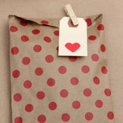 Image of Red Polka Dot Bags