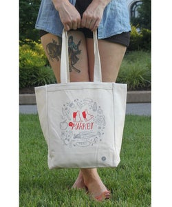 Image of 'TO MARKET' TOTE BAG -BY- Tuesday Bassen