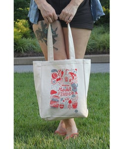 Image of 'TO MARKET' TOTE BAG -BY- Jessica H.J. Lee