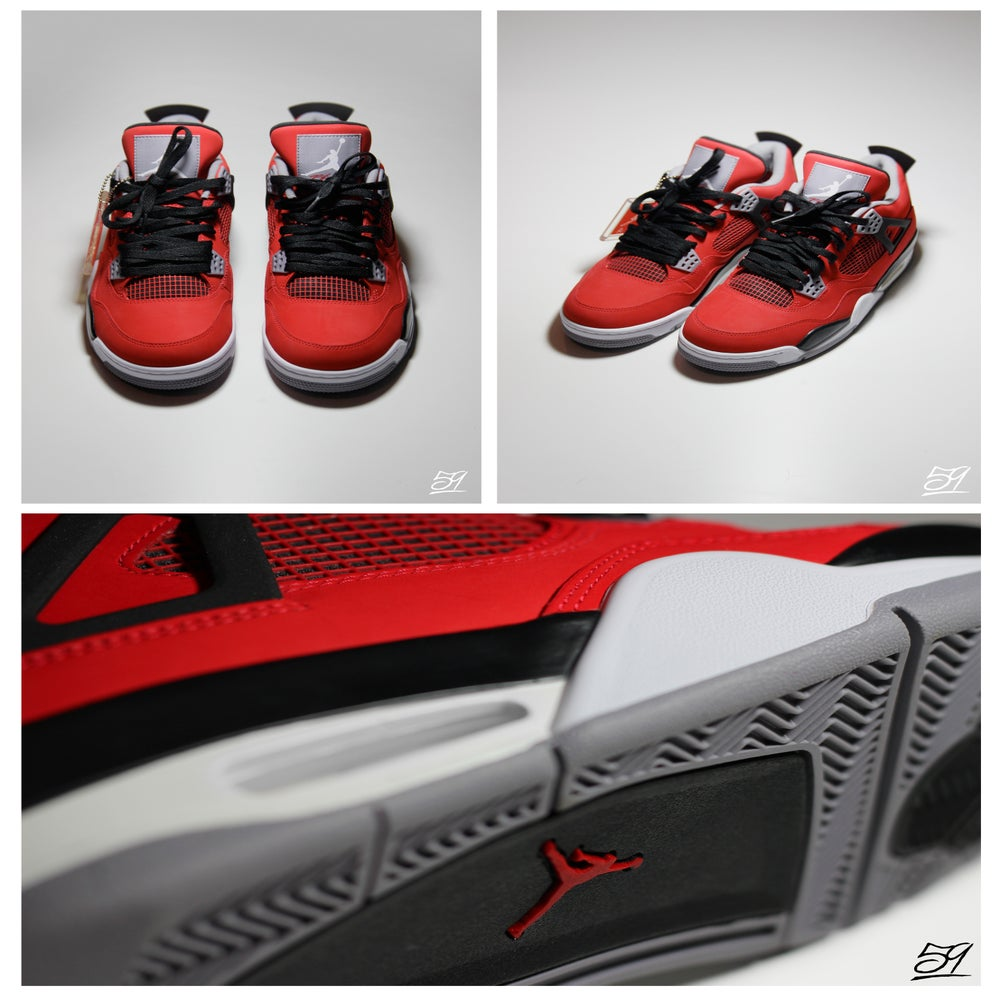 Image of Nike Air Jordan Retro 4-Toro Red UK9/US10 £149.95 *FREE SHIPPING*