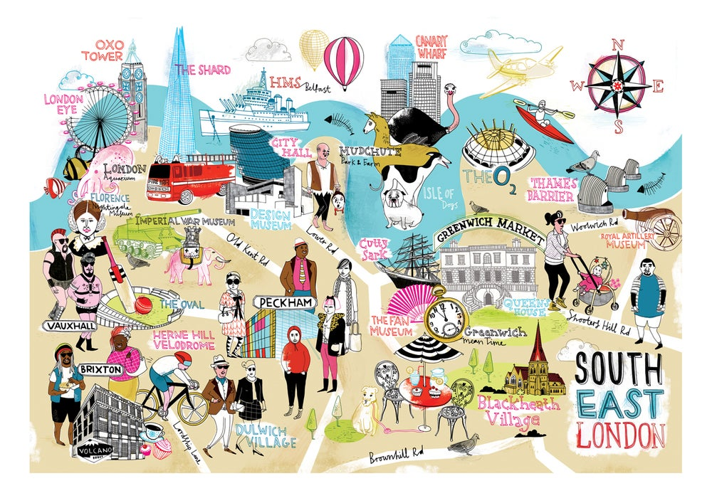 Image of South East London map