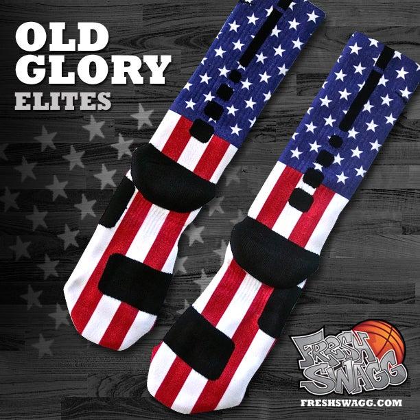 Custom nike elite socks old glory for Custom elite