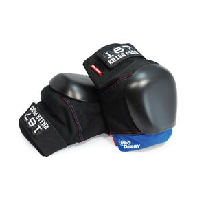 Image of LTD. EDITION PRO DERBY KNEE PAD (black-blue & red)