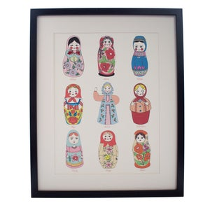Image of **NEW** Limited Edition Hand Decorated Russian Doll Print