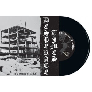 """Image of DESPERATE TIMES - New Course of Action 7"""" BLACK"""