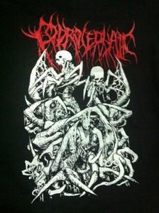 Image of Ornaments of Insanity Contaminates my Veins Artwork shirt - Red Logo