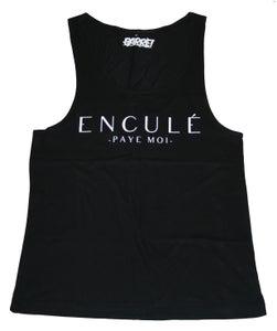 Image of ENCULÉ PAYE MOI TANK TOP BLK