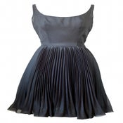 Image of Vintage 1980s Pleated Prom Dress by Akris