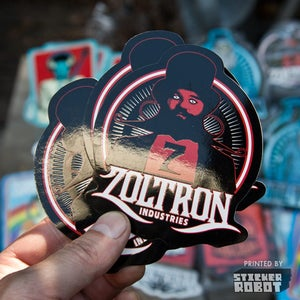 Image of Zoltron Mustache Man Stickers (5)