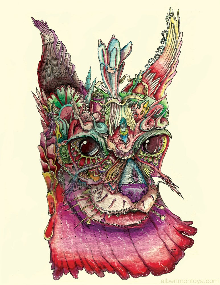 "Image of Print ""Freyja's Cat"""
