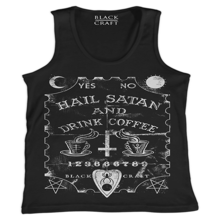 Image of Hail Satan And Drink Coffee - Tank Top