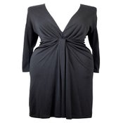 Image of Vintage 1970s Plunge Back Dress