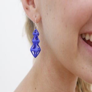 Image of Linked Octahedron Earrings