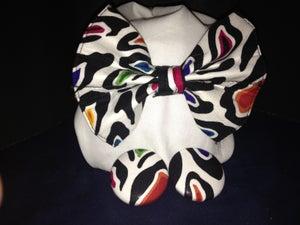 Image of Multi Colored Zebra Bow Tie