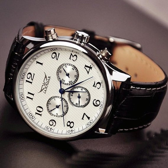 stan vintage watches mens leather fashion watches
