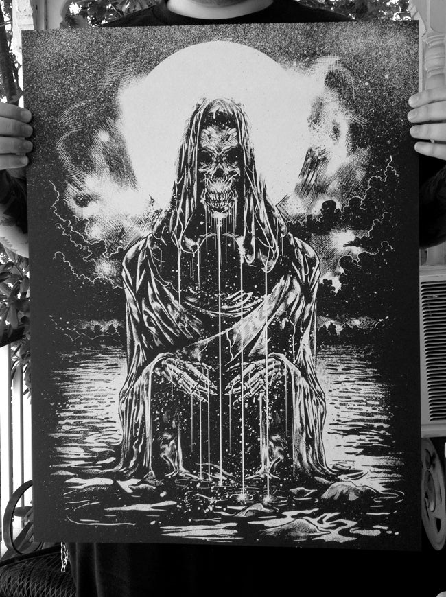"Image of ""A Cloaked Death"" 18x24 Screen Print"