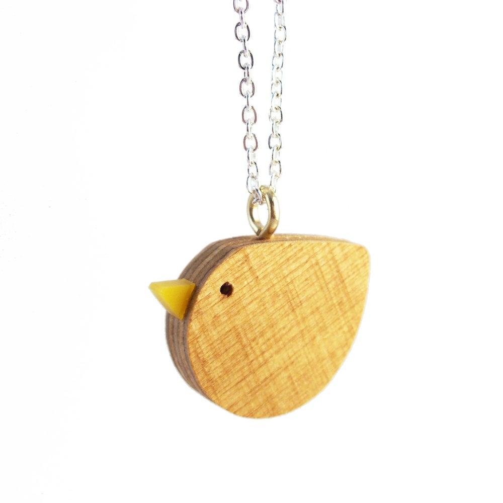 i am acrylic — Wooden Bird pendant necklace