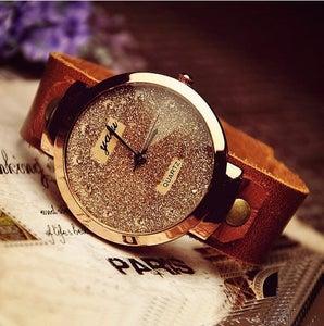 Image of Fashion Womens Leather Wrist Watch (WAT0006)