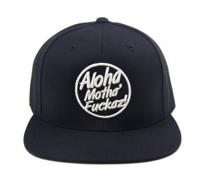 "Image of TFHH Classic Logo ""AMF"" Snapback (blk/wht)"