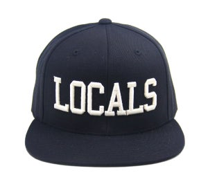 "Image of TFHH Classic Logo ""LOCALS"" Snapback (blk/wht)"