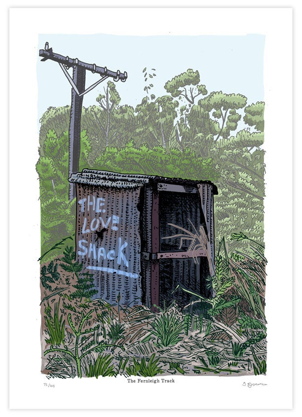 Image of The Love Shack On Fernliegh Track Limited Edition Digital print