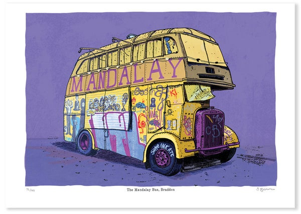 Image of Mandalay Bus Print Limited Edition Digital Print