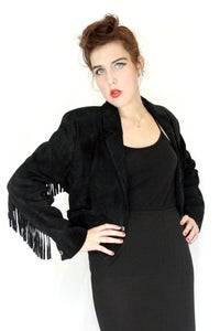 Image of 80's Suede Fringe Jacket
