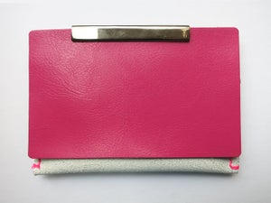 Image of Color Blindness - Card Holder(White Rough cover/Pink)