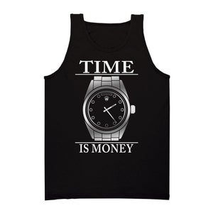 Image of PLATINUM Time Is Money Tank (Black)